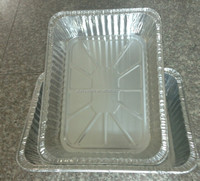Disposable Best Selling item Good quality Rectangular shape aluminum foil container for food packaging