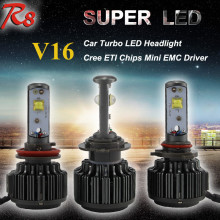 High Power V16 Turbo 30W Car LED Headlight Bulbs H1 H3 H4 H7 H11 9005 9006 30W 3600LM/Bulb Plug and Play