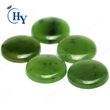 Hot sale 12mm 18mm 20mm round cabochon cut green russia Nephrite jade stone price