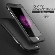 360 Degree Hybrid Hard Durable Mobile Phone Case, for iphone 6 plus customized case cover