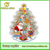 3d sticker paper christmas tree for western christmas decoration