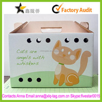 2015 Best price free design professional custom pet carrier cardboard box