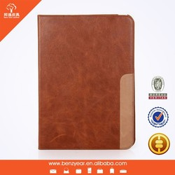 Genuine Top Layer Leather Tablet Case For ipad air 2 with card slots