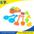 Eight pcs assorted funny plastic mini beach toy