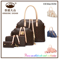 2016 leather ladies handbags Wholesale Fashion Designer Women Genuine Leather Ladies Handbags Made in China