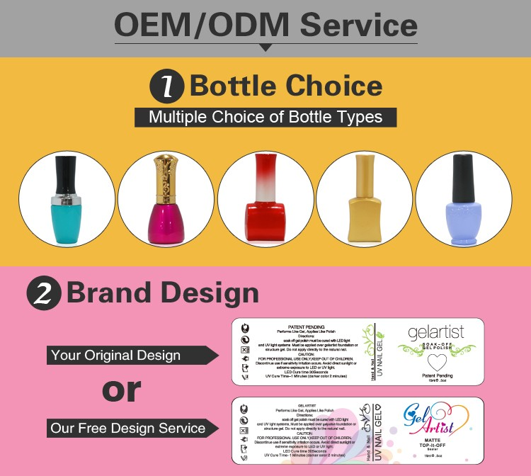 L&M Factory Wholesale OEM/ODM service 7.3ml UV/LED Soak Off gel polish