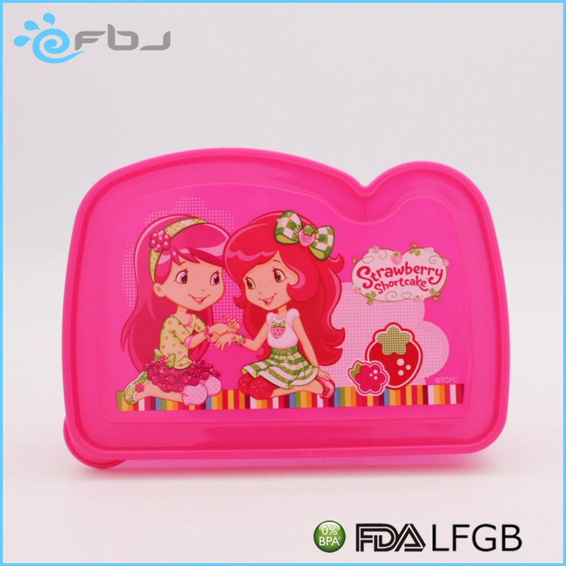 Clear Kids Plastic Sandwich Lunch Box With Divider . * / ~