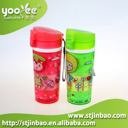 BPA Free Logo Printed Colorful Water Bottle with Lid