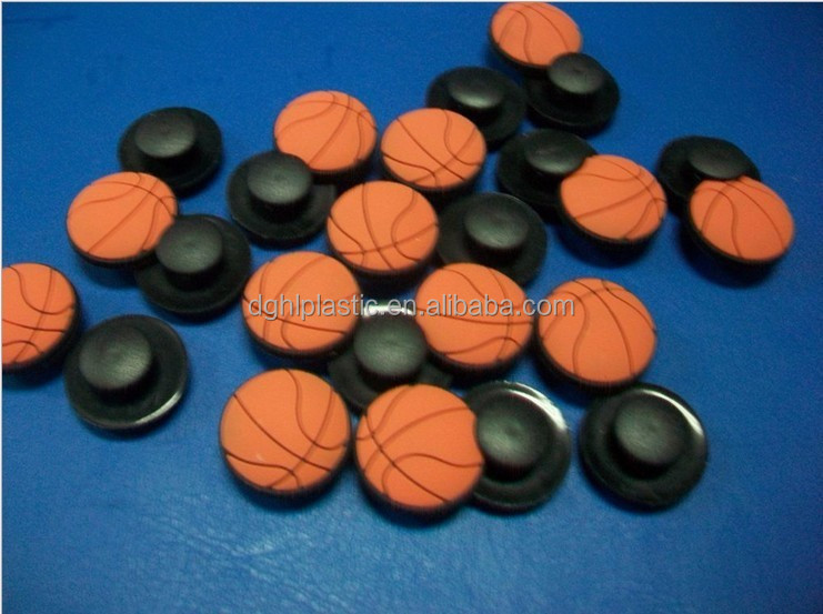 small basketball shape rubber shoe charms whole sale