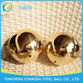 76 80mm electric conductive hollow brass balls for light