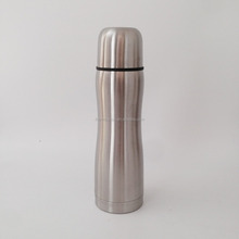 Conture shaped thermos flask