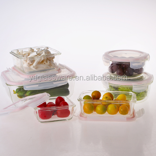 Premium Glass Meal Prep Food Storage Container with Snap Locking Lid