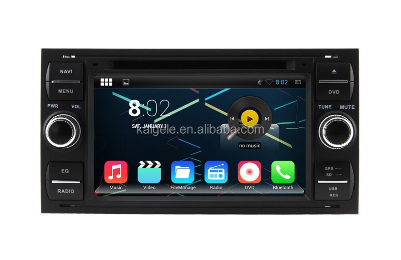 1080P Touch Screen 7 Inch Auto Car Multimedia For Ford Mondeo Android 4.4.4 System