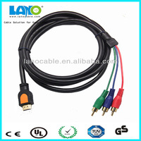 1.8m hdmi male to 3 rca male vga cable support 1080p