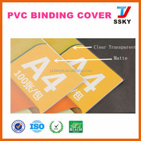 Pvc cover with raw material for book binding cover