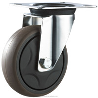 Industrial removable TPR caster wheels with plain bearing