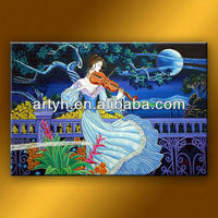 Latest designs oil painting beautiful woman fairy hot sexy painting