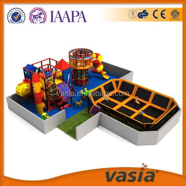 Amusement children trampoline bed and kids indoor playground