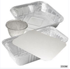 Aluminium containers with lids