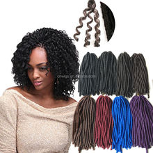 "Wholesale 20"" 7 Colors Optionals Crochet Twist Braids Synthetic Soft Dreadlocks Ombre Faux Locs Crochet Braid Hair Extensions"