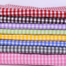 cotton poly shirting yarn dyed stocklot fabric in china
