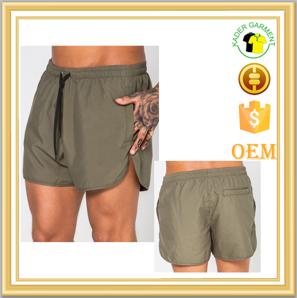 summer beach polyester mens blank wholesale mens swim shorts