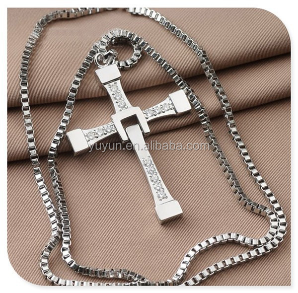 wholesale Fast and Furious Cross <strong>Necklace</strong>,Dominic Toretto Men's <strong>Necklace</strong>,Sterling Silver <strong>Necklace</strong>