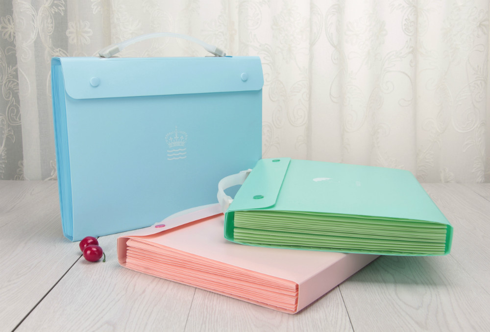 popular new types of a4 plastic file folders with handle