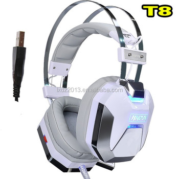 T8 Trade Assurance OEM PC Computer Gaming Wired Headphone with light