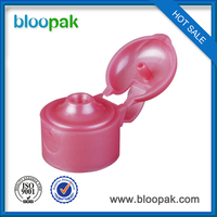 28 410 plastic tube flip top cap for shampoo bottle