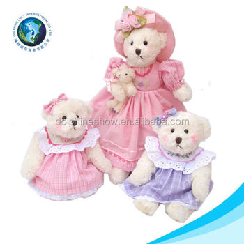 Lovely promotional bear family ballet teddy bear with tutu
