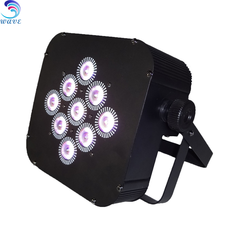 Smartcube Battery Powered Led Par Uplights 9*15w rgbwauv 6in1 For Wedding Lighting