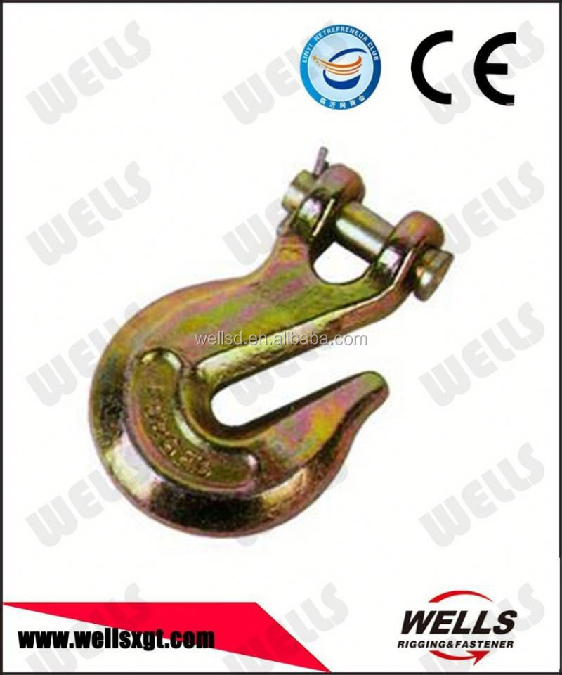 Wells factory Rigging hardware G100 CLEVIS HOOKS WITH POSITIVE LOCKING LATCHES
