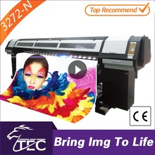 outdoor 3.2m large large format advertising eco solvent printer cutter