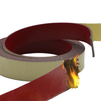 Self Adhesive Heat Insulation Fireproof Intumescent Wooden Door Weatherstrip Insulate Thermal Inhibit Smoke Sealing Strip