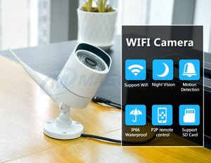IR night vision 720p 1MP point and shoot baby monitor wireless bullet AP network surveillance security wifi camera