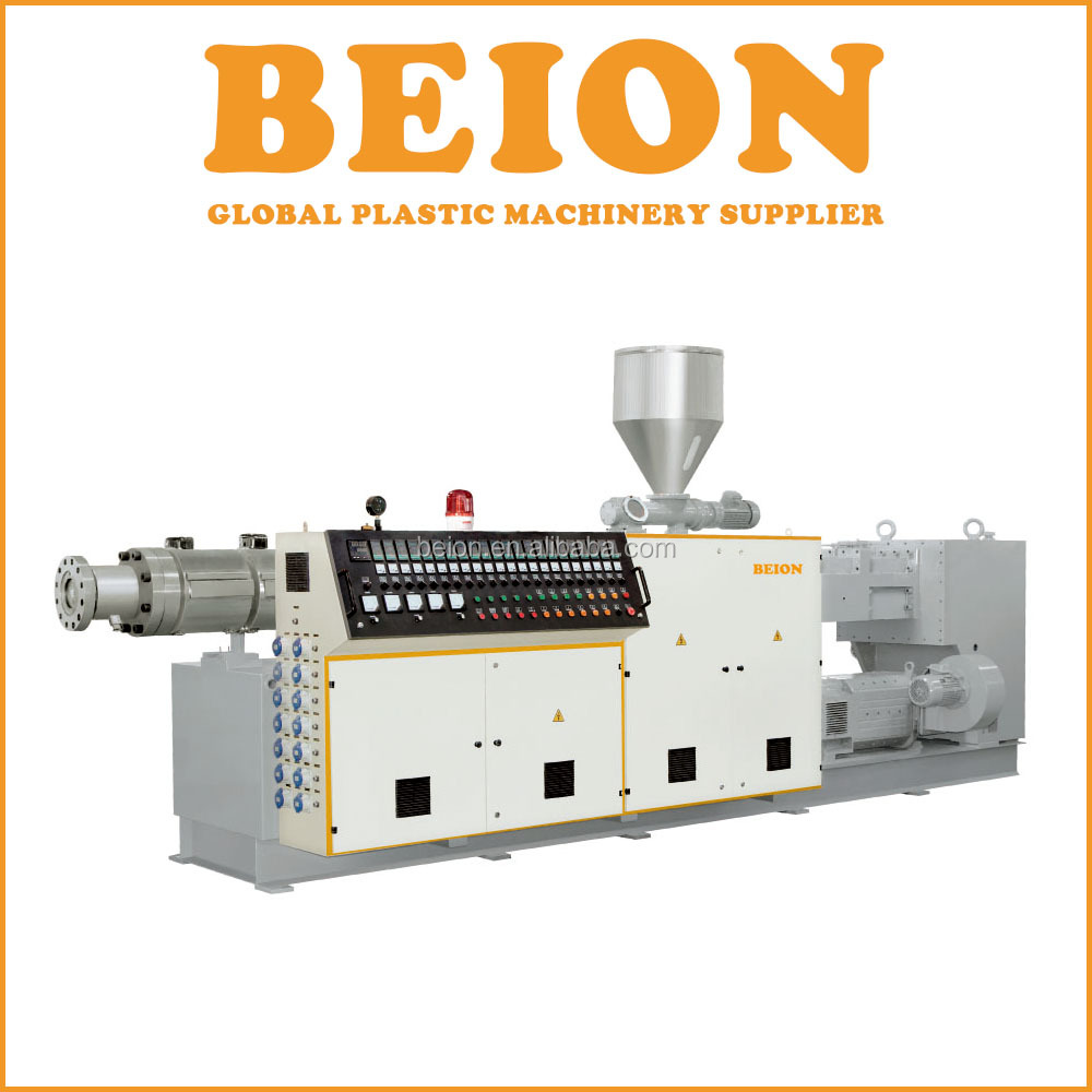 BEION PVC Plastic High extruding Output Parallel Twin Screw Extruder Machine For Pipe and Profile
