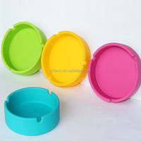 High quality eco- friendly promotional portable round tobacco cigar cigarette silicone rubber ashtray