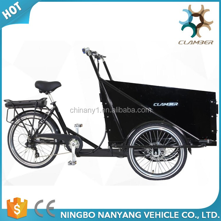 3 wheel 6 speeds electric cargo bike/tricycle with hydraulic disc brake for sale UB9036E(Wheel motor)