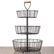3-Tier Wrought Iron Display Wire Basket