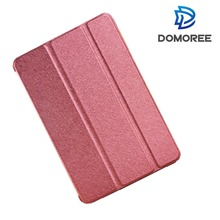 2017 China supplier new style PU leather ultra silk folding smart protective cover case for apple ipad