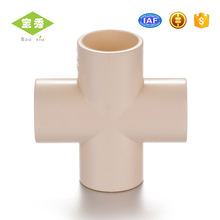 High quality PVC Cross Joint Pipe Fittings Equal Pipe Cross