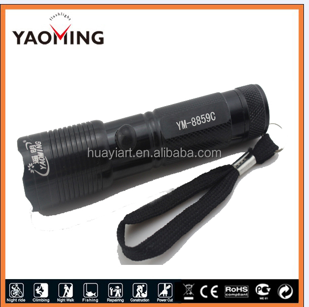 YM 8859C 1 W dark color 14500 cheap rechargeable LED mini flashlight