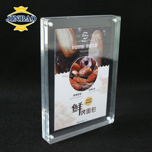 JINBAO a5 size tabletop table stand drink acrylic menu card display holder for restaurant
