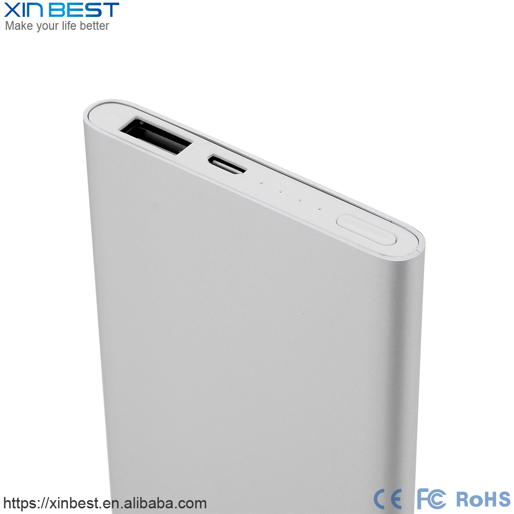 Popular slim power bank xiaomi power bank 5000mah mobile phone charger