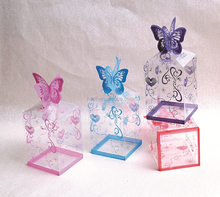 customized PET clear plastic boxes for wedding favor