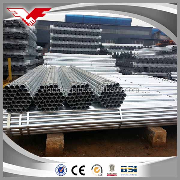 Building material/ Hollow tubes / Fence thin wall Q235 Hot dip zinc coated GI galvanized round steel pipe