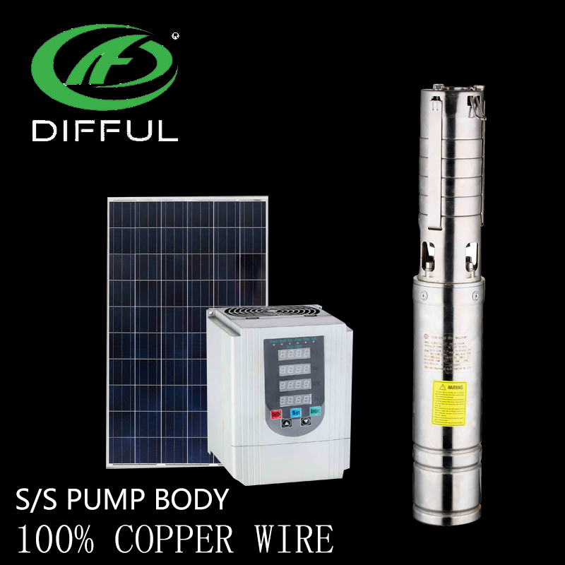 4 inch solar battery powered high pressure water pump