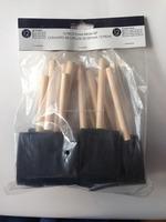 1 inch clean foam paint brush set/wooden handle sponge paint brushes Discount Free Inspection