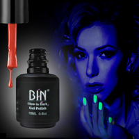 BIN Hot Glow in the Dark UV Gel Polish Nails